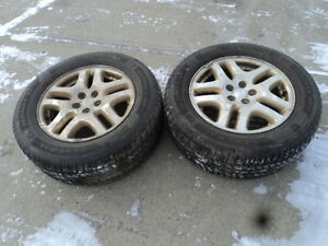 2 General Tires with Rims for Subaru Vehicles