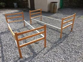 2 single 2ft6 beds, can be made into small bunk beds