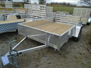 "74""X10' ALL ALUMINUM UTILITY TRAILER - SAY BYE TO RUST! London Ontario image 3"