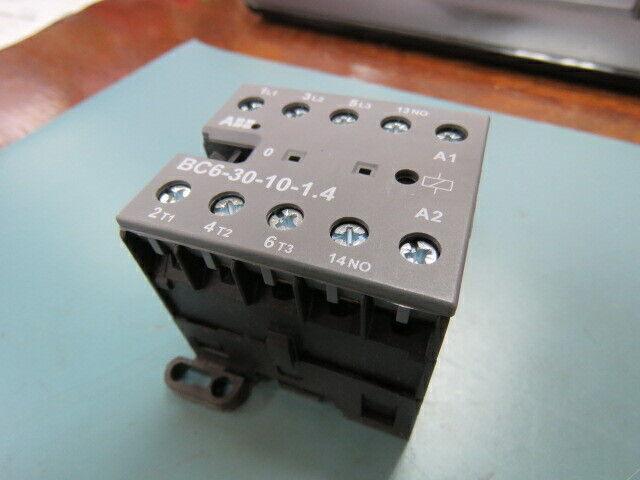 ABB CONTROLS  BC6-30-10-1.4 Qty of 1 per Lot CONTACTOR 3 POLE;  Mini Contactor,