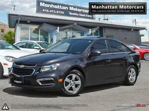 2015 CHEVROLET CRUZE 2LT AUTO  PHONE ROOF CAMERA LEATHER WARRNTY