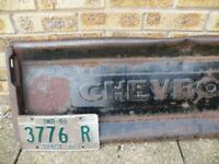 Great Vintage Chevrolet Pick Up Tailgate Make a Nice Seat Or Hang In Man Cave Rare item in UK