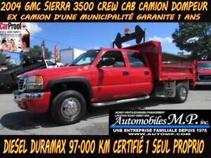 2004 GMC Sierra 3500 Crew Cab CAMION DOMPEUR DIESEL ,1 SEUL PROP