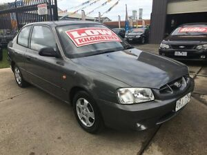 2001 Hyundai Accent LC GL Grey 5 Speed Manual Hatchback Brooklyn Brimbank Area Preview