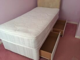 Single bed for sale with under bed storage drawers