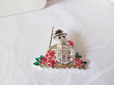 Silvertone and Goldtone Christmas Pin/Brooch - Choose your Design on Rummage