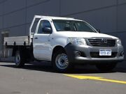 2012 Toyota Hilux TGN16R MY12 Workmate 4x2 White 5 Speed Manual Cab Chassis Maddington Gosnells Area Preview