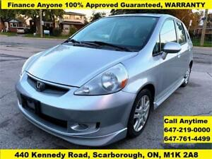 2007 Honda Fit Sport FINANCE 100% APPROVED WARRANTY