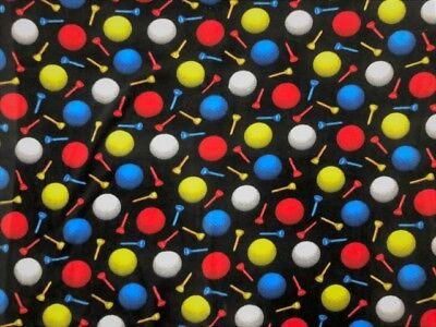 Golf Balls Allover Fleece Fabric -  60