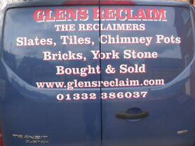 Reclaimed Handmade tiles Dreadnought Staffordshire Blue Hand made