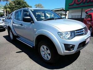 2013 Mitsubishi Triton MN MY14 GLX (4x4) Silver 4 Speed Automatic 4x4 Dual Cab Mount Gravatt Brisbane South East Preview