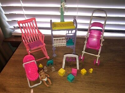 Barbie Baby Home Nursery Set Stroller Changing Table Toys BABY INCLUDED