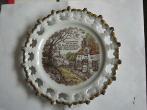 Hanging Plate With Poem, Made In Japan