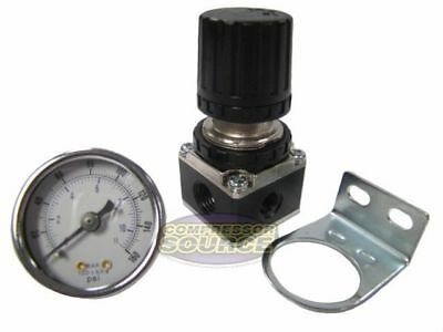 14 Npt Air Compressor Regulator W 0-160 Psi Pressure Gauge Wall Mount