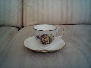 Antique English Bone China Teacup and Saucer by Jason (#J6 12)