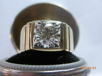Heavy 14 k Gold 2.02 Carat Solitaire Diamond Ring SI2