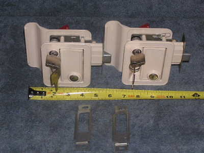 2ea RV Motorhome TRIMARK KEYED-A-LIKE Entry Door Handle Lock Set Hardware Kit