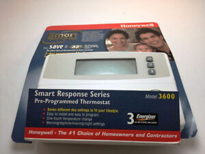 New Honeywell Smart Response 3600 Thermostat 7 Day Programmable