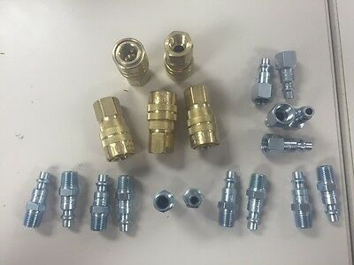 """20 Pack MILTON 715 727 728 Air Hose Couplers M Style 1/4"""" Plugs Fittings Nipples"""