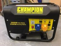 "Brand New ""Champion 2800w"" Petrol Generator"