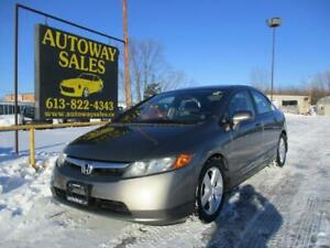 2006 Honda Civic ** ONLY 100KM!! ** safety + Warranty Included**