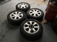 SET OF 4 PEUGEOT WHEELS & TYRES 15""