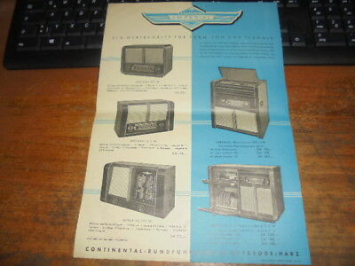 - Prospekt Sales Brochure Stassfurter Imperial Radio TV Continental Musiktruhe