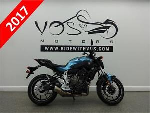 2017 Yamaha FZ07- Stock #V2433- Free Delivery in the GTA**