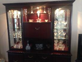 Display Cabinet Mahogany with drop lights