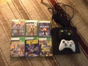 Xbox 360 -- 2 Controllers 6 Games included