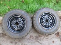 """2 x 12"""" Classic Mini Wheels with tyres"""