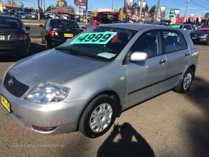 2002 Toyota Corolla ZZE122R Ascent Seca Silver 5 Speed Manual Hatchback Lansvale Liverpool Area Preview