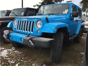 2017 JEEP WRANGLER SAHARA AUTO 2 DOOR IN HYDRO BLUE !!