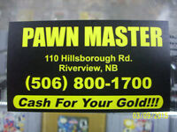 PAWNMASTER WE BUY SCRAP GOLD.