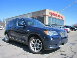 2013 BMW X3 XDRIVE, NAV, ROOF, LEATHER, 74K!