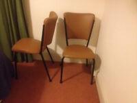 2 X Retro Kitchen Chairs