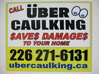 "WATERPROOFING SPECIAL from ""UBER CAULKING"" and Stucco Repair"