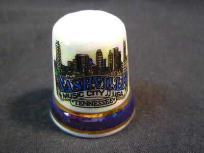 Nashville Tennessee USA Pearlised China Thimble