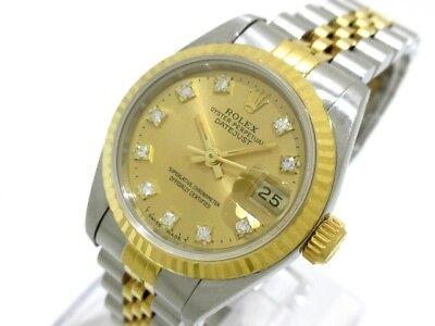 Auth ROLEX Datejust 69173G Silver Women