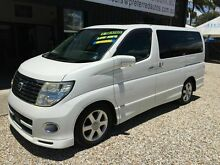 2006 Nissan Elgrand E51 Highway Star White 5 Speed Automatic Wagon Biggera Waters Gold Coast City Preview
