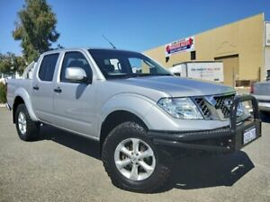 2012 Nissan Navara D40 MY12 ST (4x4) Silver 5 Speed Automatic Dual Cab Pick-up Malaga Swan Area Preview