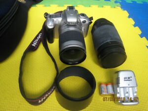 Nikon F55 Camera with Nikkor AF 28-80mm and 70-300m zooms