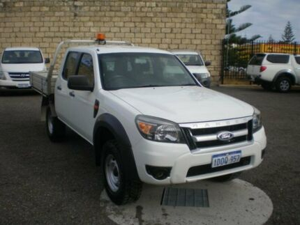 2010 Ford Ranger PK XL (4x4) White 5 Speed Manual Dual Cab Chassis Beaconsfield Fremantle Area Preview