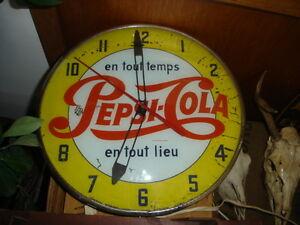 Horloge de liqueur et de bière, pancarte, push bar, push plate