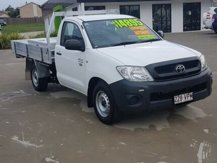 2010 Toyota Hilux TGN16R MY10 Workmate White 4 Speed Automatic Cab Chassis