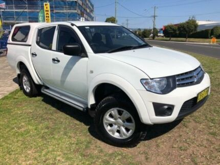 2014 Mitsubishi Triton MN MY14 Update GLX (4x4) White 4 Speed Automatic 4x4 Double Cab Utility Dapto Wollongong Area Preview