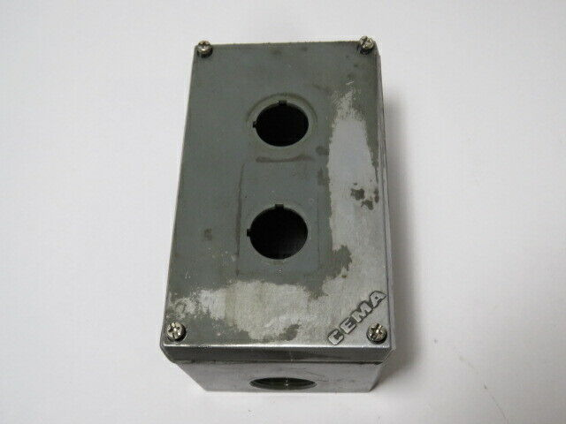 General Electric 080285E-S Cema Metal Push Button Enclosure  USED