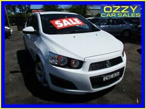 2012 Holden Barina TM MY13 CD White 6 Speed Automatic Hatchback Minto Campbelltown Area Preview
