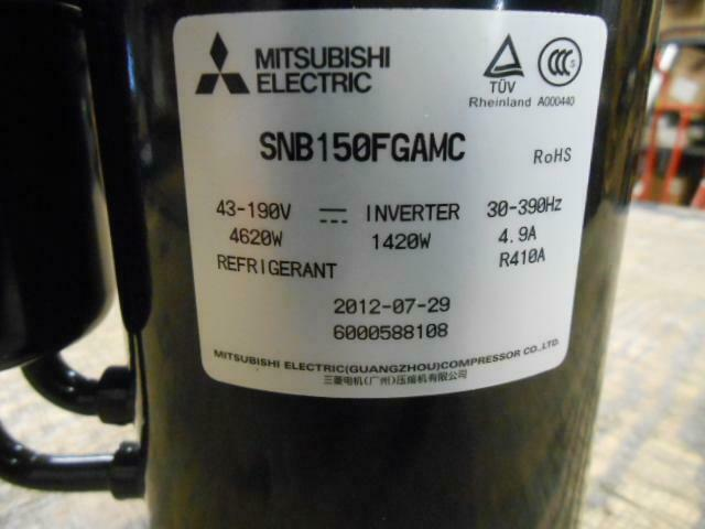 Mitsubishi Snb150fgamc/y5250 Refrigeration Dc Inverter Compressor R410a 43-190v