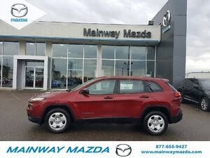 2015 Jeep Cherokee Sport ONE OWNER LOCAL TRADE NO PST